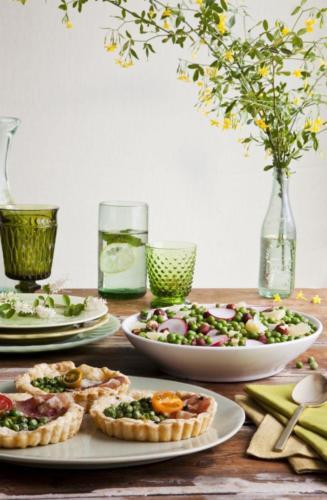 spring+pea+salad+and+tart